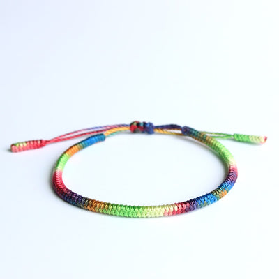 Handmade Knots Lucky Rope Bracelet (Chakra) - Spiritual Bliss Shop