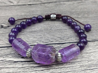 Natural Amethyst Calming Bracelet - Spiritual Bliss Shop