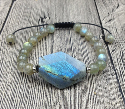 Labradorite Light Protection Adjustable Bracelet - Spiritual Bliss Shop