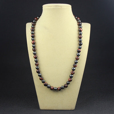 Pemium Tiger's Eye & Hematite Necklace - Spiritual Bliss Shop