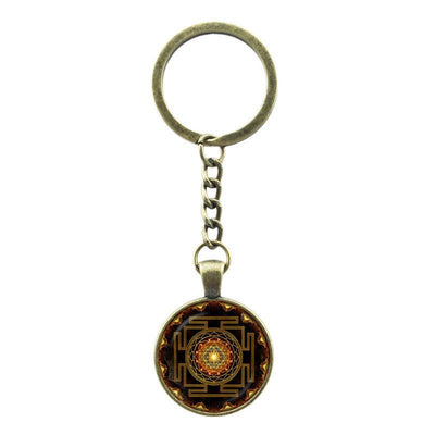 Sri Yantra Keychain - Spiritual Bliss Shop