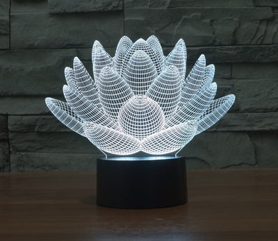 Limited Edition - Lotus Flower Hologram LED lamp - Spiritual Bliss Shop