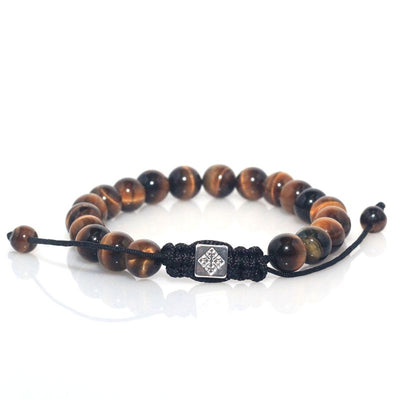 Tiger's Eye Shamballa Adjustable Bracelet - Spiritual Bliss Shop