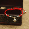 Sterling Silver Bell Lucky Red Rope Bracelet - Spiritual Bliss Shop