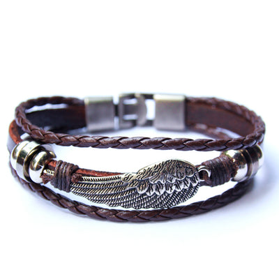 Eagle Wing Leather Bracelet - Spiritual Bliss Shop