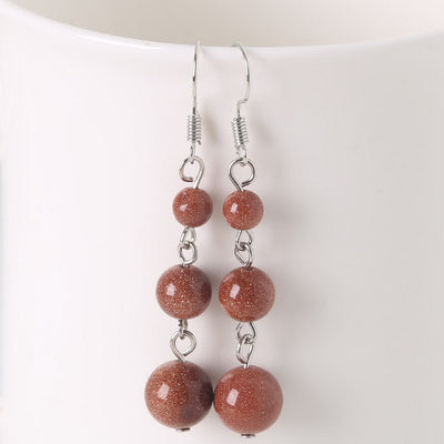 Semi-precious Stones Earrings - 15 stones available (Energy) - Spiritual Bliss Shop