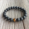 Matte Black Onyx & Tiger's Eye Bracelet - Spiritual Bliss Shop