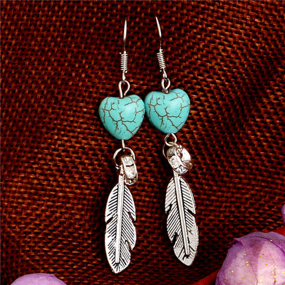 Bohemian Turquoise Earrings - Spiritual Bliss Shop