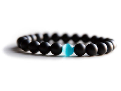 Water Drop Onyx & Aquamarine Bracelet - Spiritual Bliss Shop