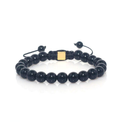 Black Onyx Shamballa Bracelet (Adjustable) - Spiritual Bliss Shop