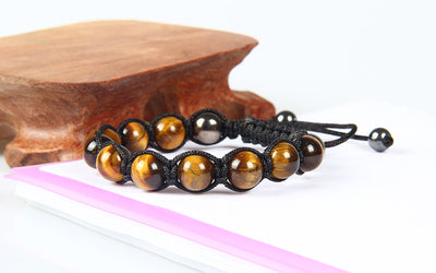Tiger's Eye & Hematite Bracelet (Adjustable) - Spiritual Bliss Shop