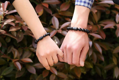 Phoenix & Dragon Black Obsidian Bracelets - Spiritual Bliss Shop