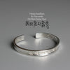 The Heart Of Prajna Paramita Sutra Bangle (Wisdom) - Spiritual Bliss Shop