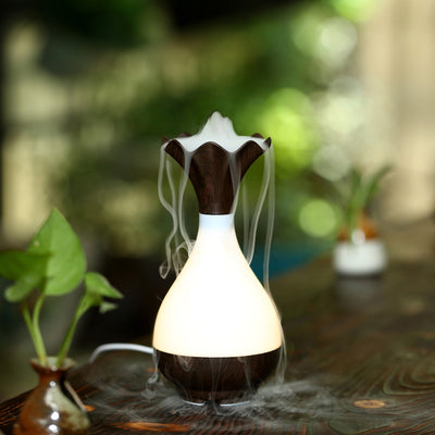 Wood Vase Aromatherapy Essential Oil Diffuser And Humidifier - Spiritual Bliss Shop