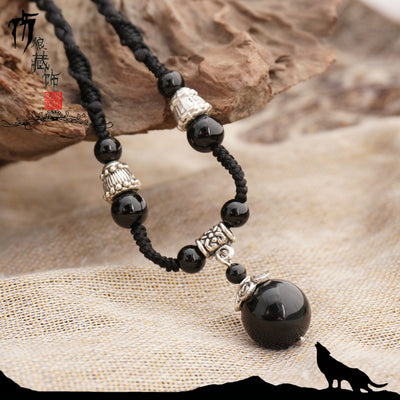 Natural Obsidian Necklace - Spiritual Bliss Shop