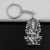 Antique Silver Ganesha Keychain - Spiritual Bliss Shop