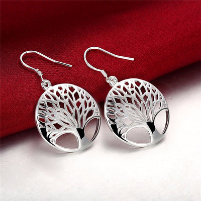 "Silver ""Tree of Life"" Earrings - Spiritual Bliss Shop"