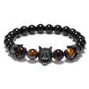 Premium Tiger's Eye Wolf Bracelet - Spiritual Bliss Shop