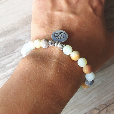 Amazonite Bracelet with Charm - Spiritual Bliss Shop