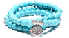 Turquoise Lotus Bracelet (Multiwrap) - Spiritual Bliss Shop