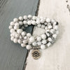 Natural Howlite Mala Bracelet - Spiritual Bliss Shop
