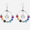 7 Chakras & Tree of Life Earrings - Spiritual Bliss Shop