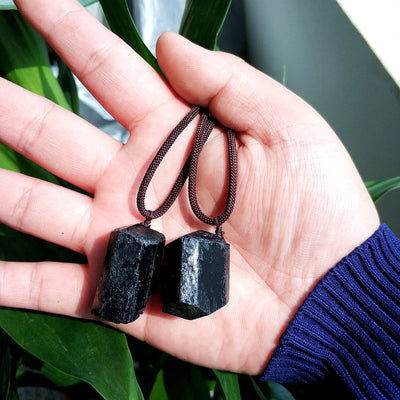 Black Tourmaline Grounding Necklace - Spiritual Bliss Shop