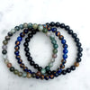 Premium Gemstones Triple Bracelets (Indian Agate, Lapis Lazuli, Black Onyx & Tiger's Eye) - Spiritual Bliss Shop