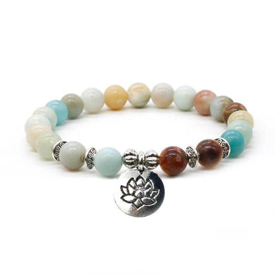 Gemstones with Lotus Charm (8 Options Available) - Spiritual Bliss Shop