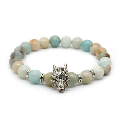Dragon's Head Gemstones Bracelet 2/2 - Spiritual Bliss Shop
