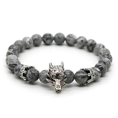 Premium Dragon's Head Gemstones Bracelet - Spiritual Bliss Shop