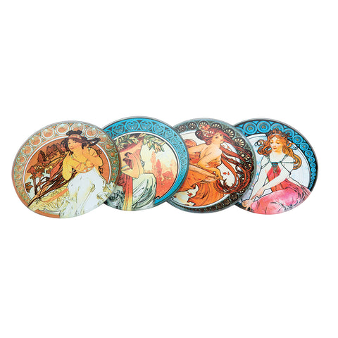 Mucha - Glass Coaster (4 Pack)