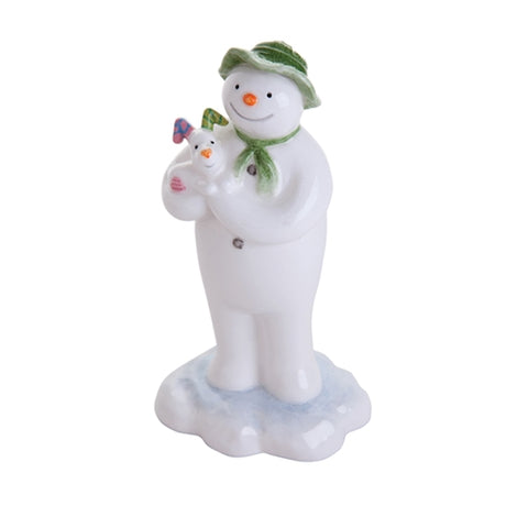 The Snowman holding The Snowdog