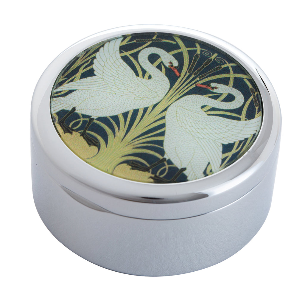 Crane Two Swans Trinket Box