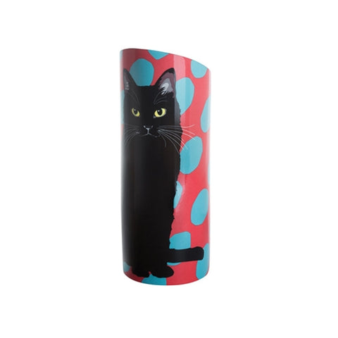 Leslie Gerry Cat Vase