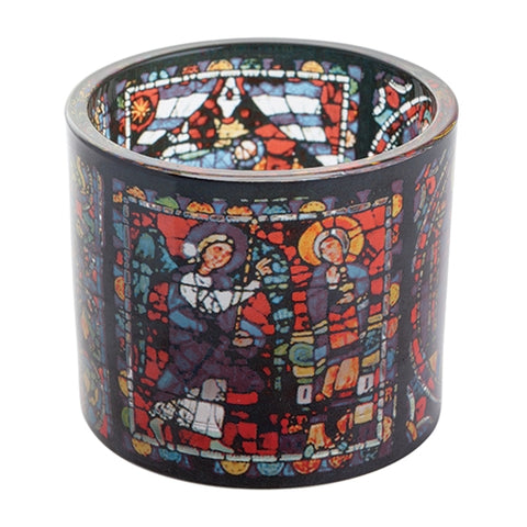 Chartres - Stained Glass Tealight
