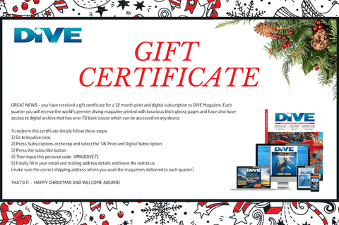 INTERNATIONAL (non UK) XMAS Gift Certificate