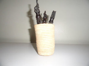 African basket pen holder 2