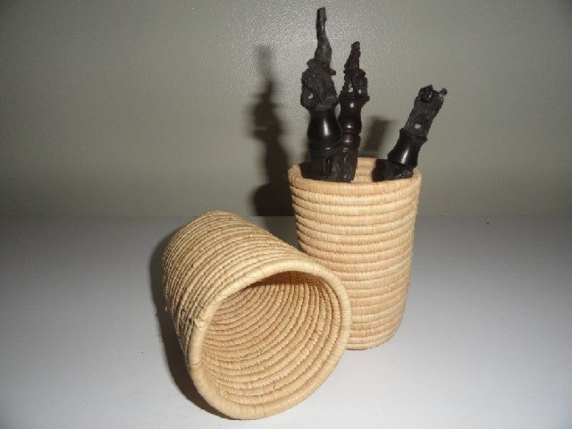 African basket pen holder 1