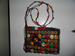 Coconut-shell Cross Body Purse
