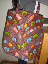 Collapsible kitenge shopping bag (buttoned)