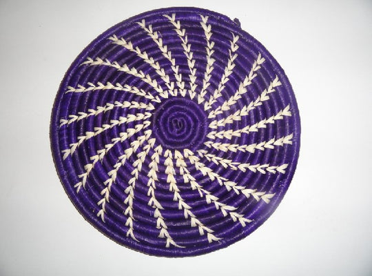 Decorative Flat basket (purple/white arch)