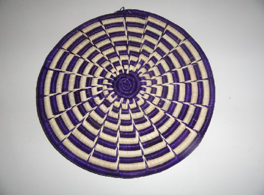 Decorative Flat basket (purple/white radial)