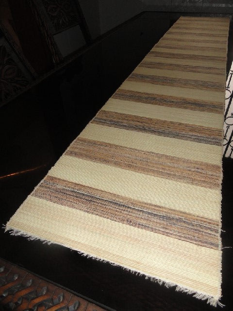 Natural Banana fibre & Reed Table Runner