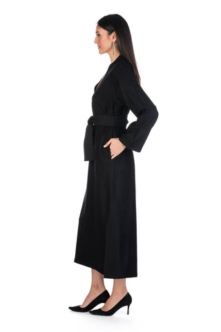 Black Moroccan Cashmere Dress
