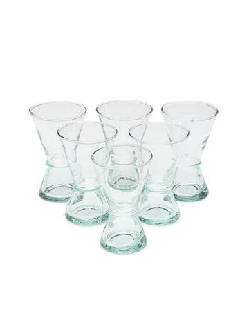 Small Handblown Atlas Glass (Set of 6)