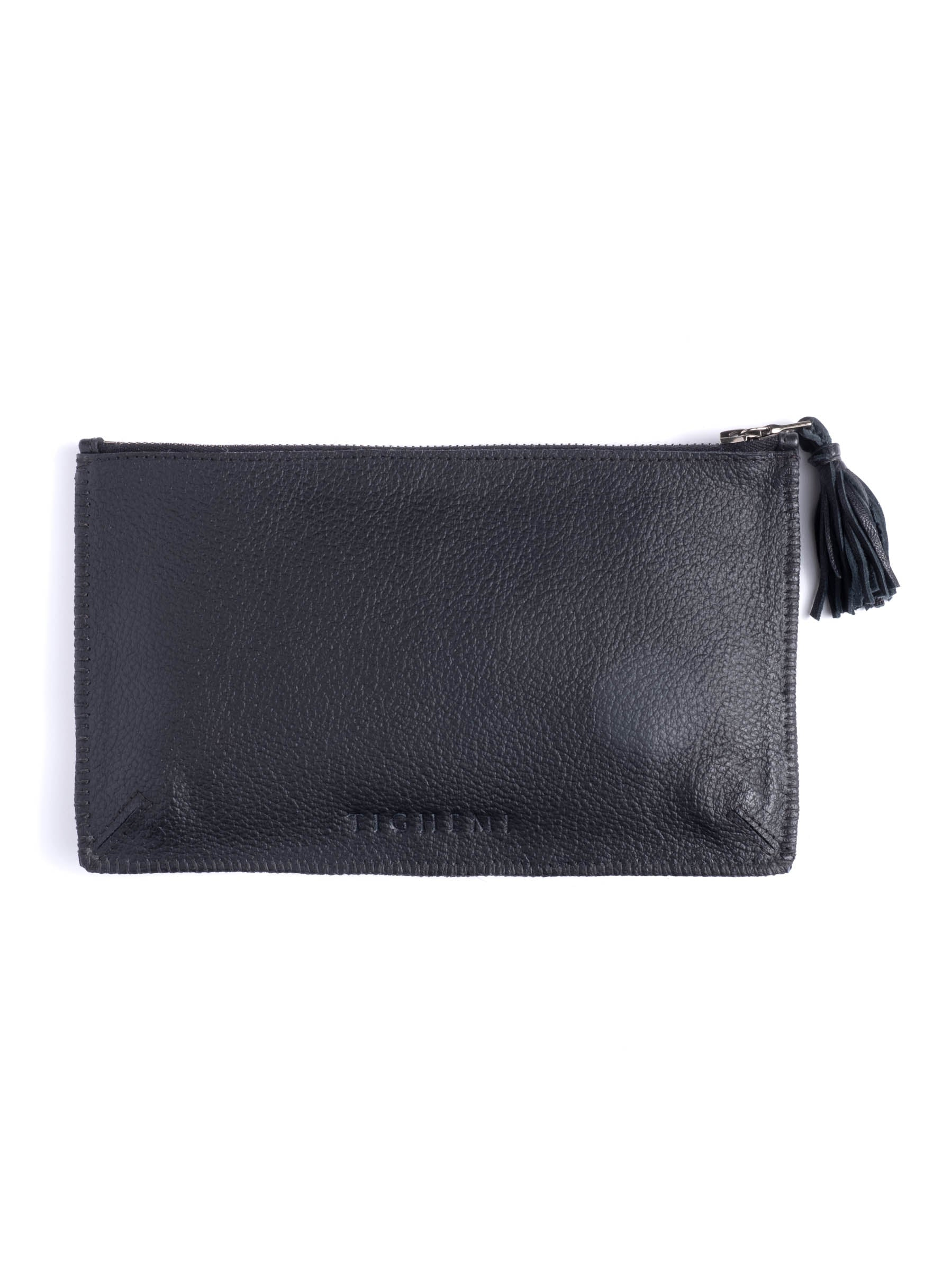 Black Pony Hair Pouch
