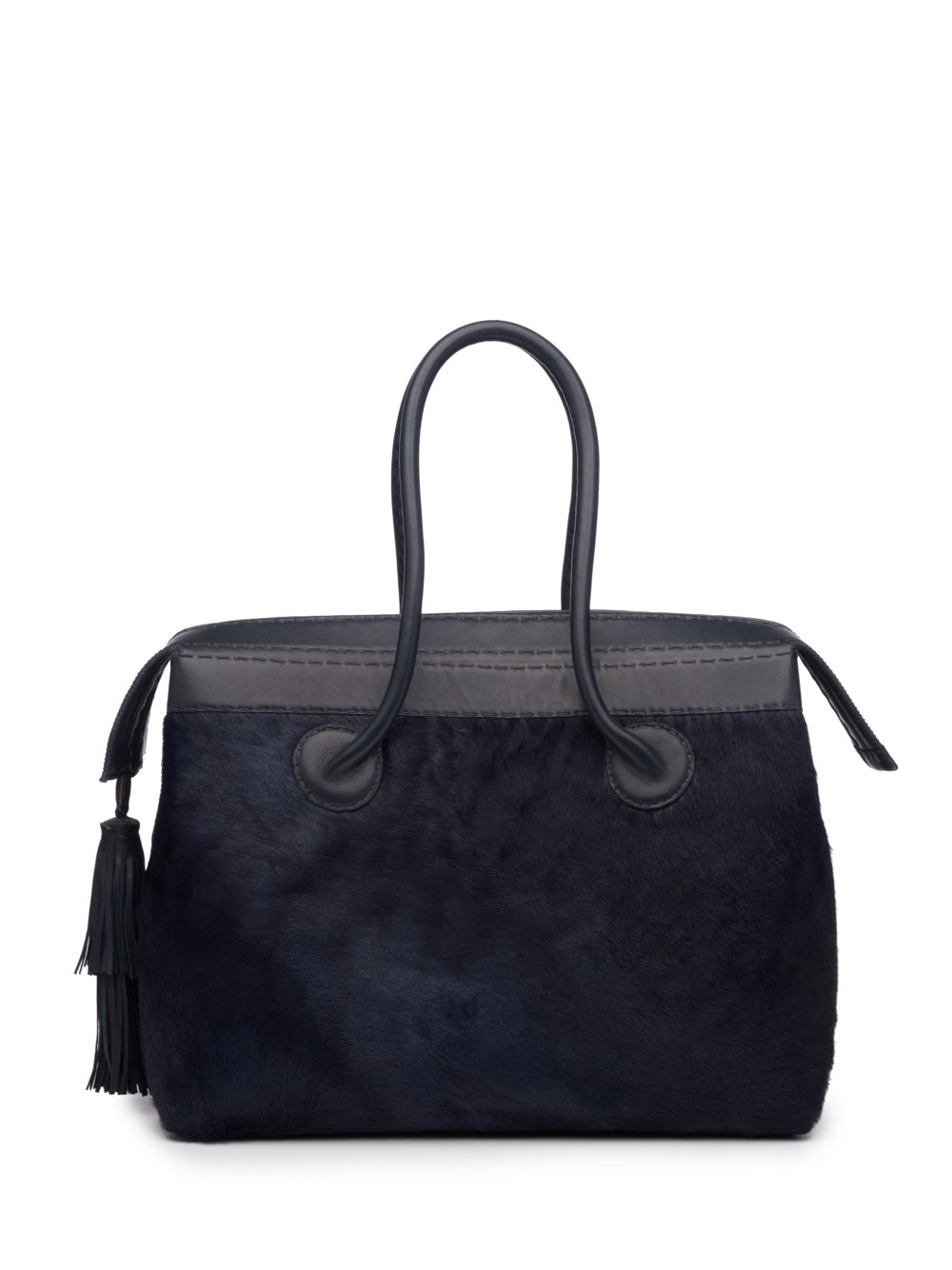 Midnight Blue Pony Handbag