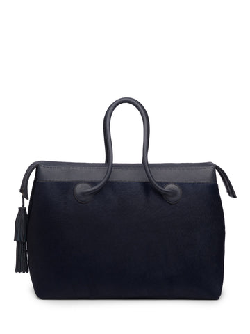 Midnight Blue Pony Weekend Bag