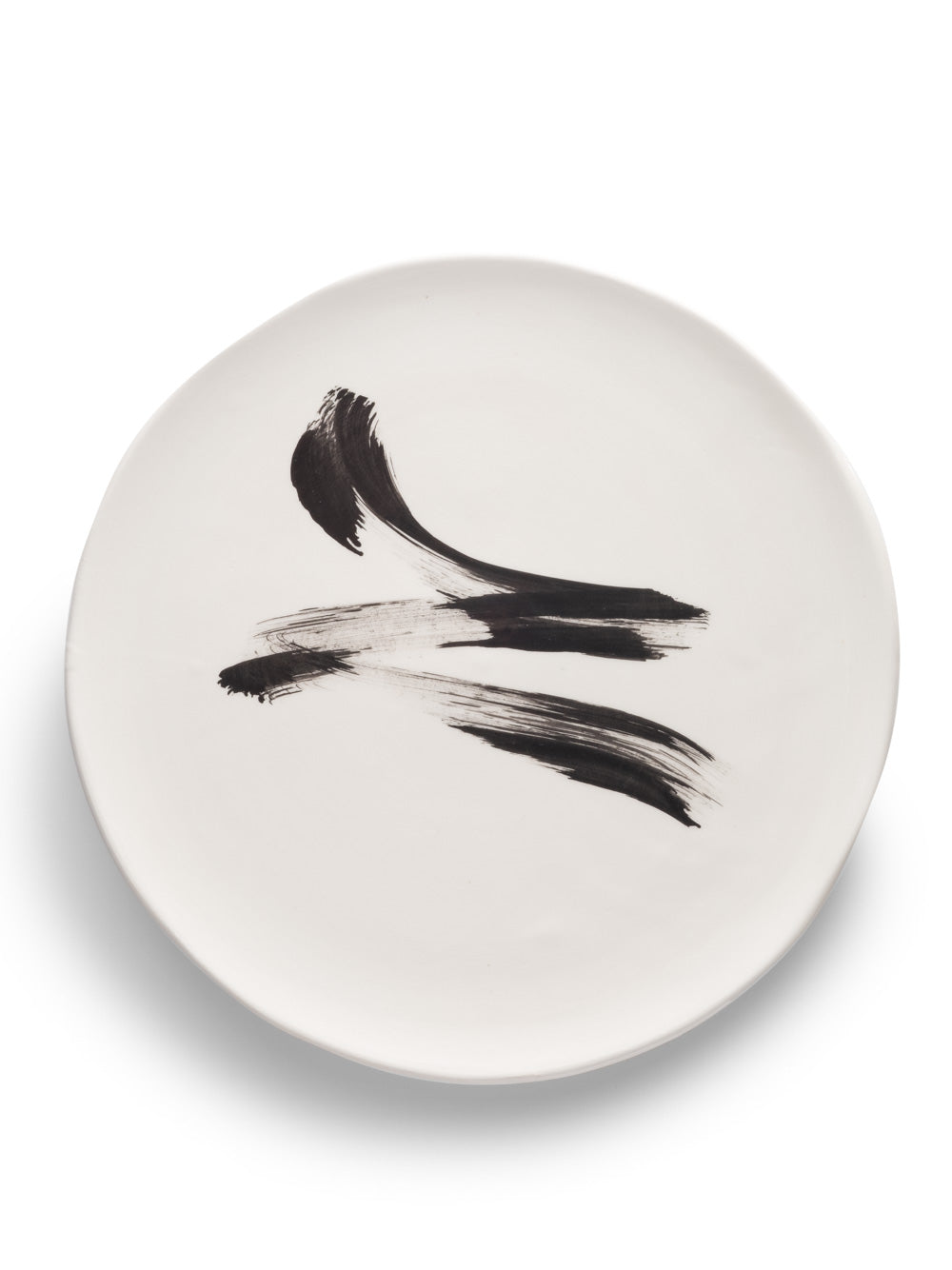 Cream Plate with Black Design